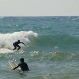 Surfing Lake Michigan