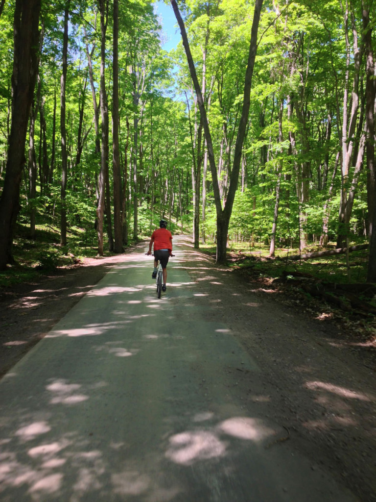 Riding the Sleeping Bear Heritage Trail