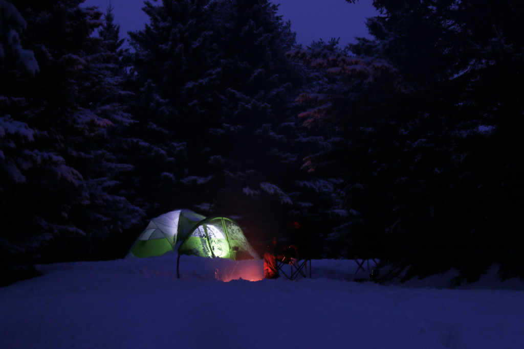 Winter camping at Pictured Rocks