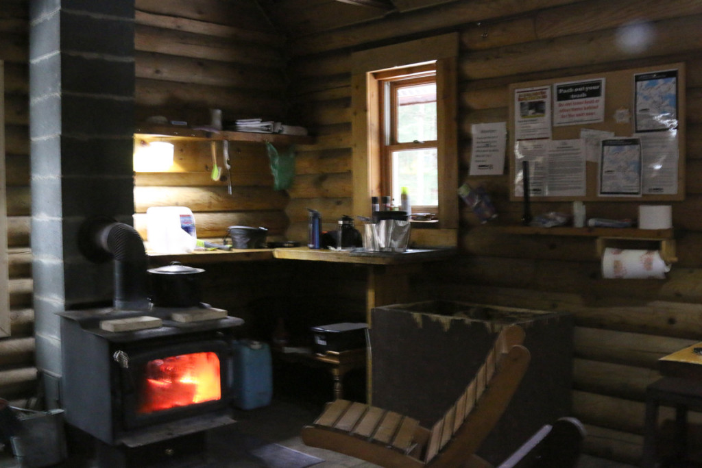 Inside McKeever Cabin in Hiawatha National Forest